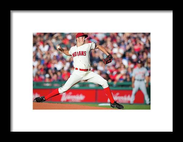 American League Baseball Framed Print featuring the photograph Trevor Bauer by Jason Miller