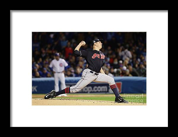 People Framed Print featuring the photograph Trevor Bauer by Jonathan Daniel