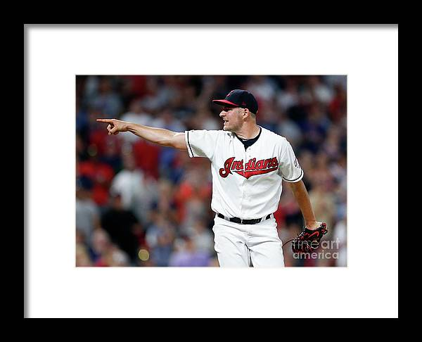 Three Quarter Length Framed Print featuring the photograph Trevor Bauer by Ron Schwane