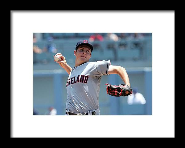 American League Baseball Framed Print featuring the photograph Trevor Bauer by Stephen Dunn