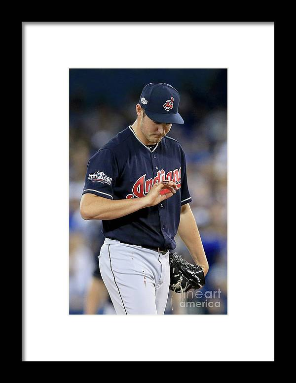 Three Quarter Length Framed Print featuring the photograph Trevor Bauer by Vaughn Ridley