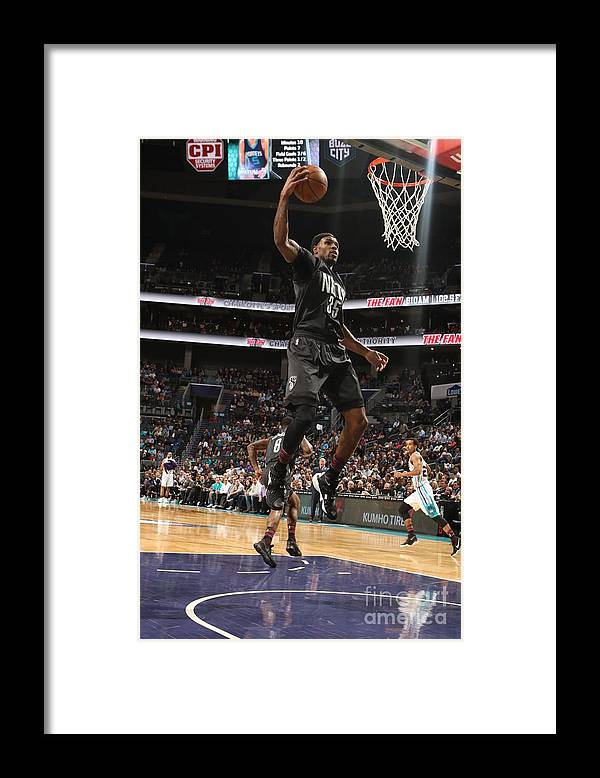 Nba Pro Basketball Framed Print featuring the photograph Trevor Booker by Brock Williams-smith