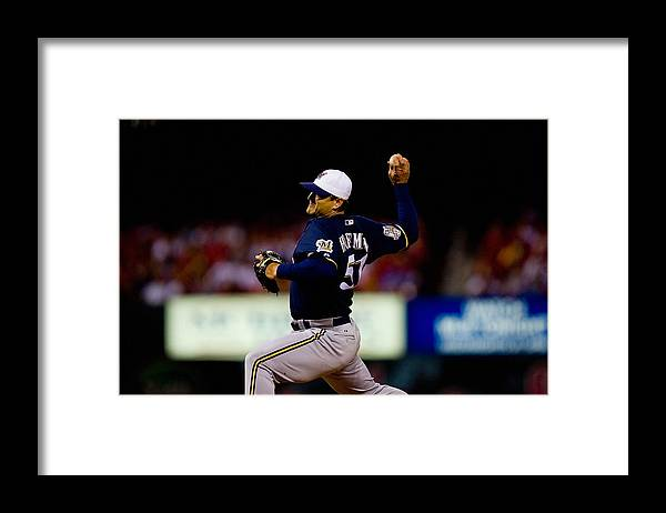 Relief Pitcher Framed Print featuring the photograph Trevor Hoffman by Dilip Vishwanat