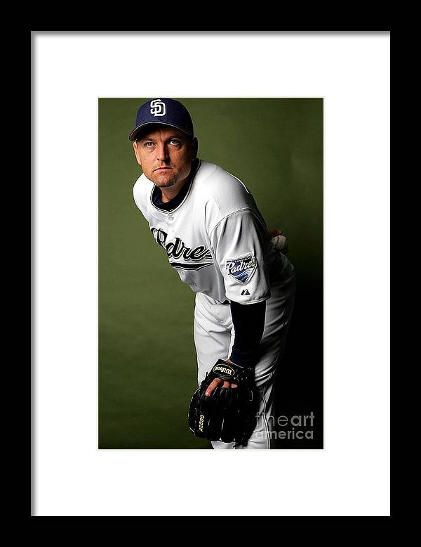 Media Day Framed Print featuring the photograph Trevor Hoffman by Ronald Martinez