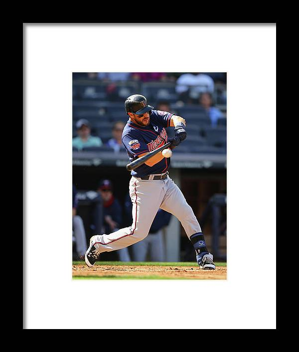 American League Baseball Framed Print featuring the photograph Trevor Plouffe by Al Bello