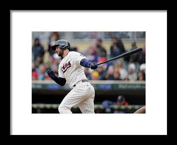 American League Baseball Framed Print featuring the photograph Trevor Plouffe by Hannah Foslien