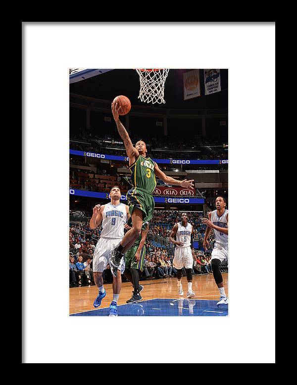 Nba Pro Basketball Framed Print featuring the photograph Trey Burke by Fernando Medina