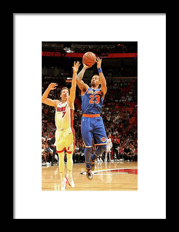 Nba Pro Basketball Framed Print featuring the photograph Trey Burke by Oscar Baldizon