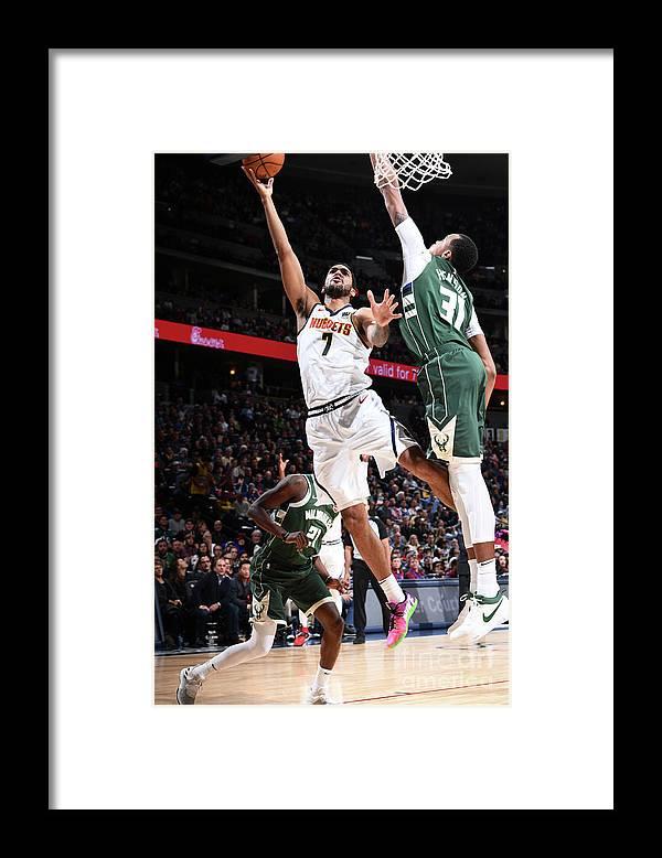 Nba Pro Basketball Framed Print featuring the photograph Trey Lyles by Garrett Ellwood