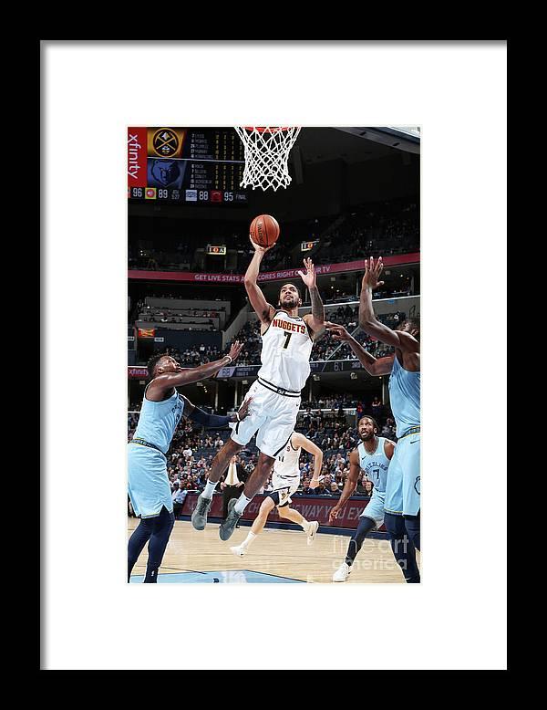 Nba Pro Basketball Framed Print featuring the photograph Trey Lyles by Joe Murphy