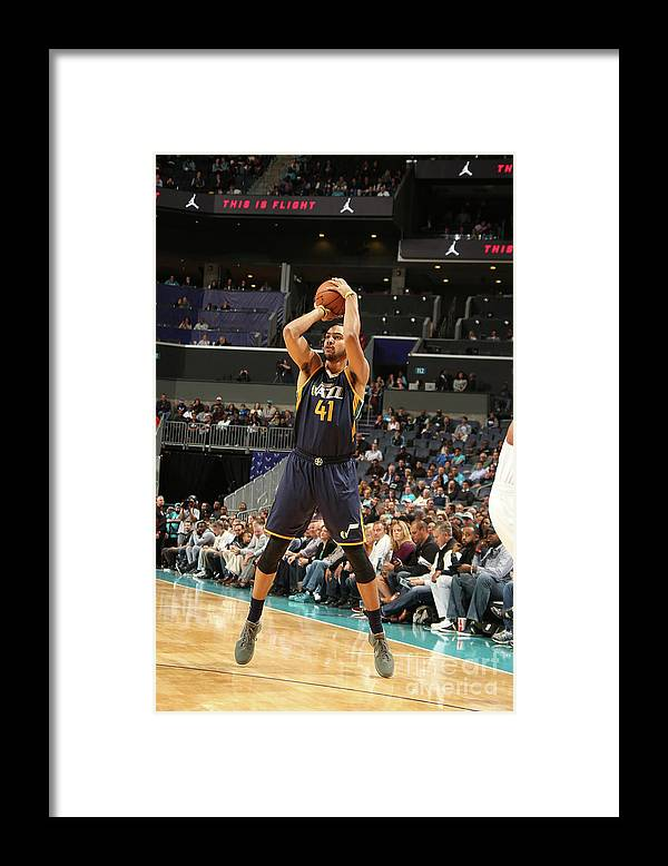 Nba Pro Basketball Framed Print featuring the photograph Trey Lyles by Kent Smith