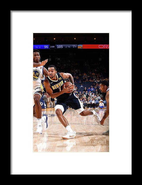 Nba Pro Basketball Framed Print featuring the photograph Trey Lyles by Noah Graham