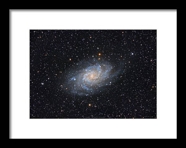Galaxy Framed Print featuring the photograph Triangulum Galaxy by Prabhu Astrophotography