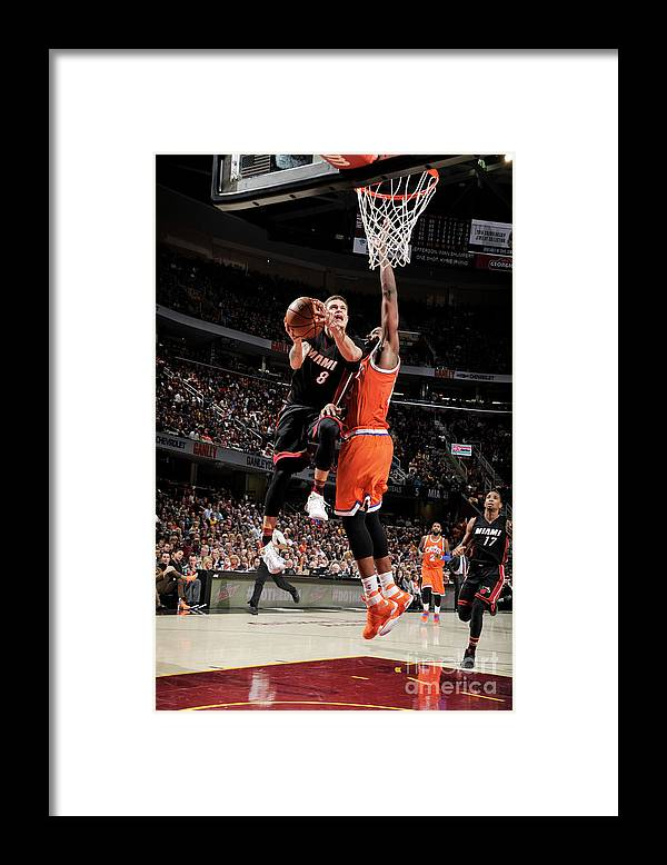 Nba Pro Basketball Framed Print featuring the photograph Tristan Thompson and Tyler Johnson by David Liam Kyle