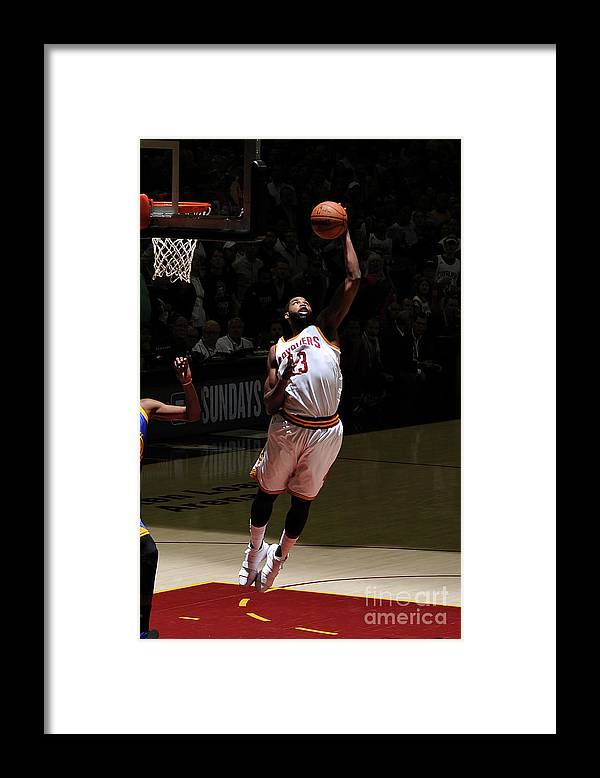 Playoffs Framed Print featuring the photograph Tristan Thompson by Garrett Ellwood