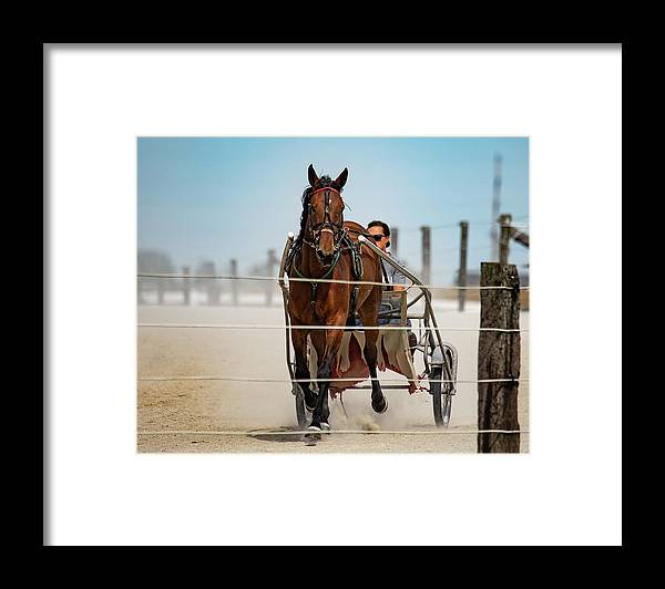 Country Framed Print featuring the photograph Trotter Training by Scott Smith