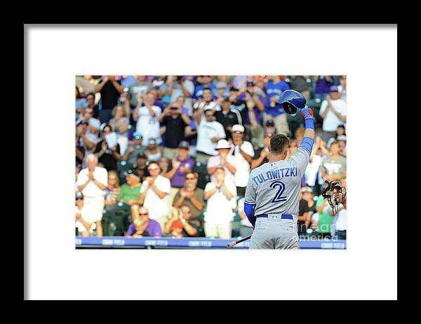 Crowd Framed Print featuring the photograph Troy Tulowitzki by Bart Young