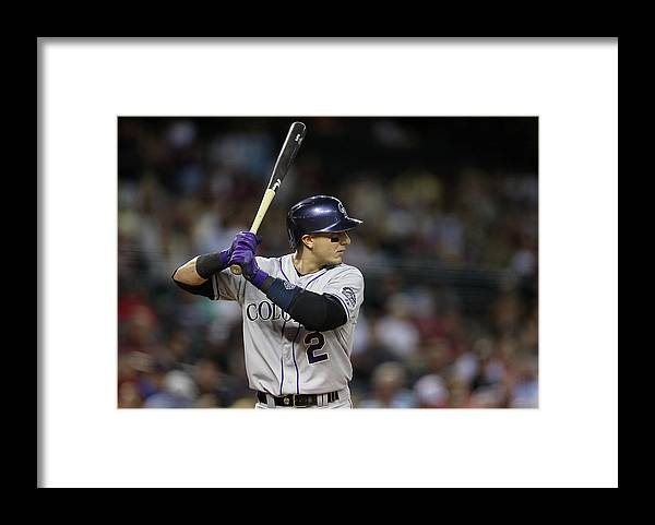 National League Baseball Framed Print featuring the photograph Troy Tulowitzki by Christian Petersen