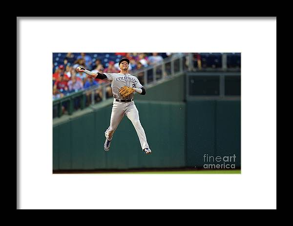 Second Inning Framed Print featuring the photograph Troy Tulowitzki by Drew Hallowell