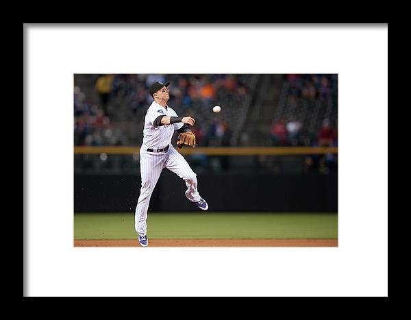 Ball Framed Print featuring the photograph Troy Tulowitzki by Dustin Bradford
