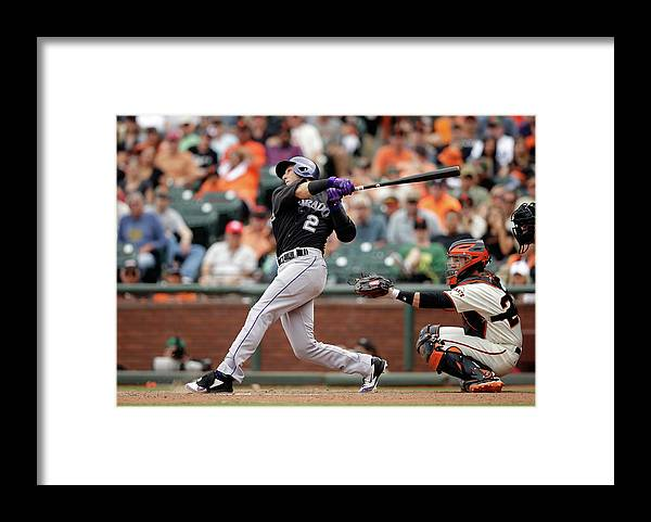 San Francisco Framed Print featuring the photograph Troy Tulowitzki by Ezra Shaw