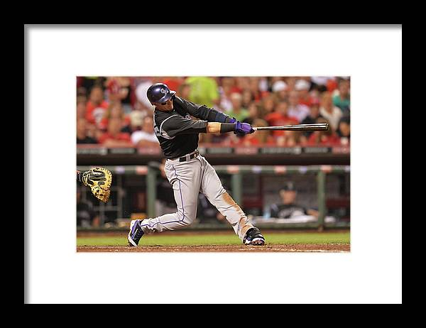 Great American Ball Park Framed Print featuring the photograph Troy Tulowitzki by Jamie Sabau