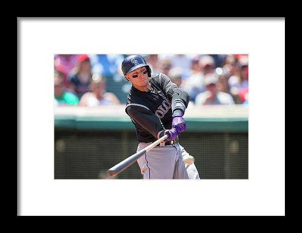 American League Baseball Framed Print featuring the photograph Troy Tulowitzki by Jason Miller