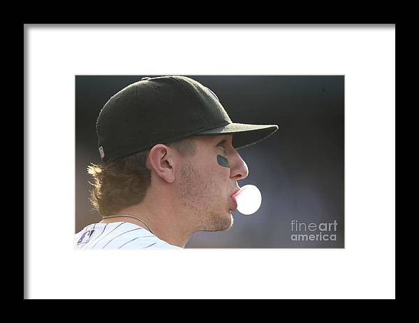 Playoffs Framed Print featuring the photograph Troy Tulowitzki by Jed Jacobsohn