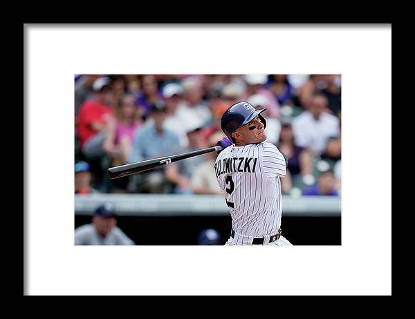 National League Baseball Framed Print featuring the photograph Troy Tulowitzki by Justin Edmonds