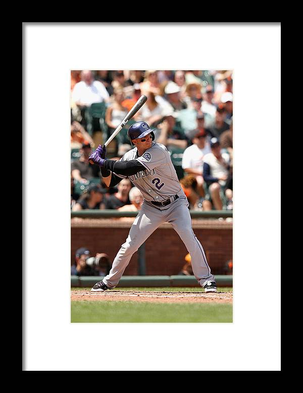 San Francisco Framed Print featuring the photograph Troy Tulowitzki by Lachlan Cunningham