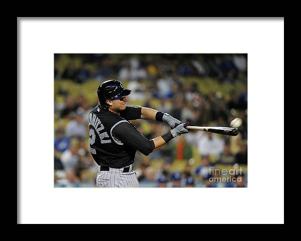 California Framed Print featuring the photograph Troy Tulowitzki by Lisa Blumenfeld