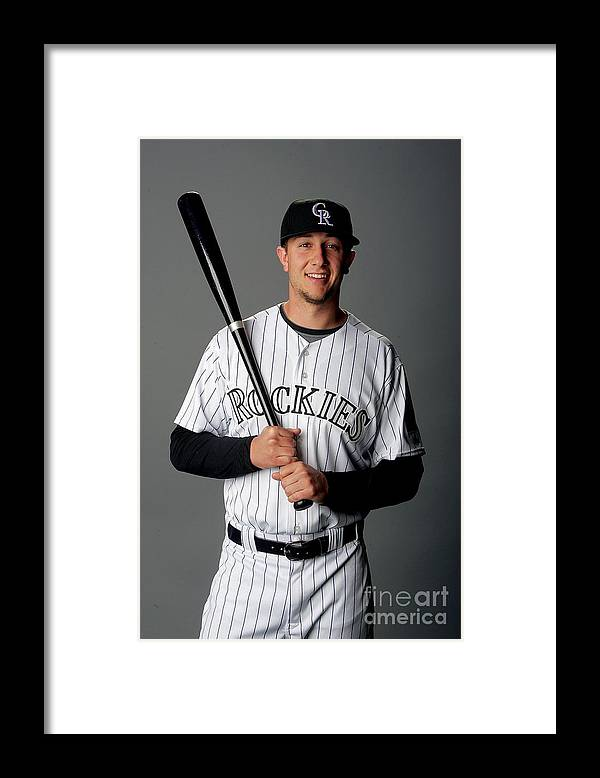 Media Day Framed Print featuring the photograph Troy Tulowitzki by Matthew Stockman