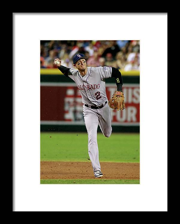 Second Inning Framed Print featuring the photograph Troy Tulowitzki by Ralph Freso