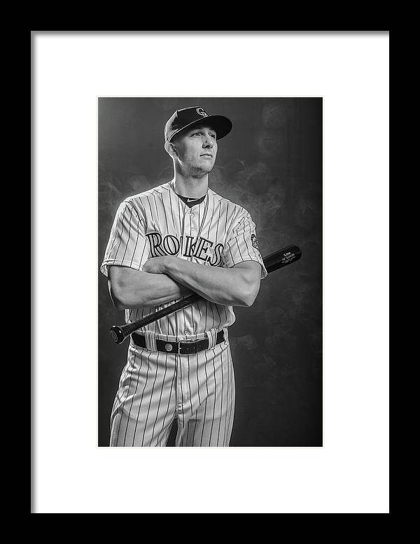 Media Day Framed Print featuring the photograph Troy Tulowitzki by Rob Tringali