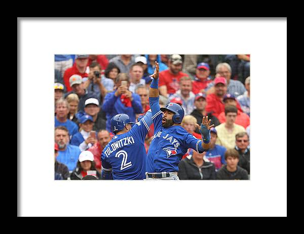 Game Two Framed Print featuring the photograph Troy Tulowitzki by Scott Halleran