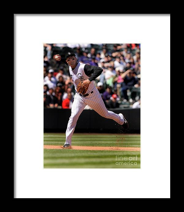 People Framed Print featuring the photograph Troy Tulowitzki by Steve Dykes