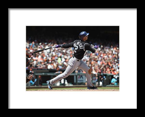 San Francisco Framed Print featuring the photograph Troy Tulowitzki by Thearon W. Henderson