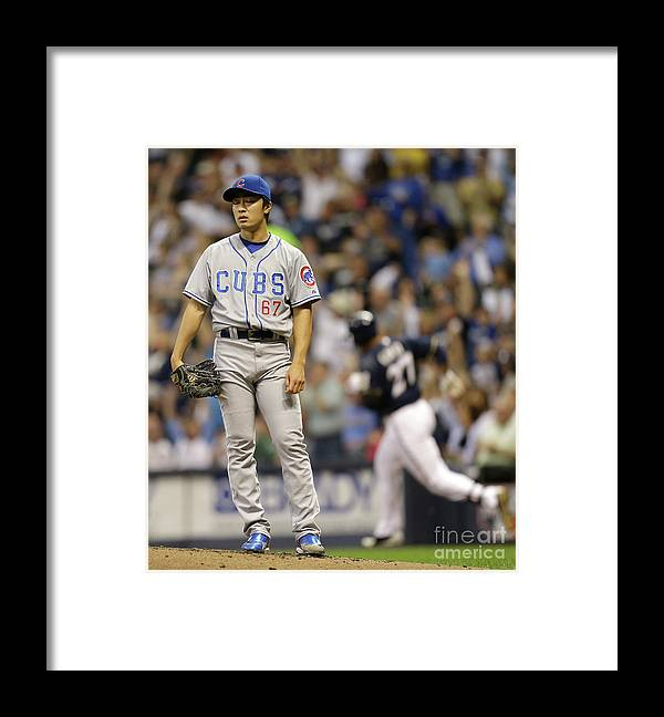 Only Japanese Framed Print featuring the photograph Tsuyoshi Wada and Carlos Gomez by Mike Mcginnis