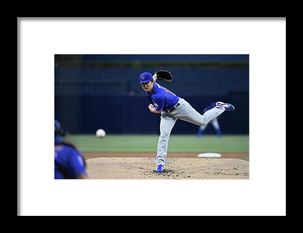 American League Baseball Framed Print featuring the photograph Tsuyoshi Wada by Denis Poroy