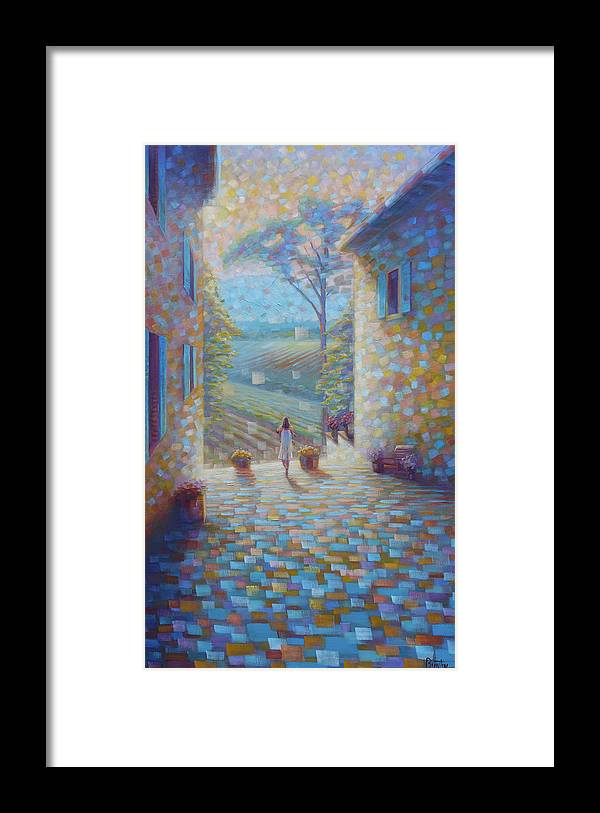 Tuscany Framed Print featuring the painting Tuscany by Rob Buntin
