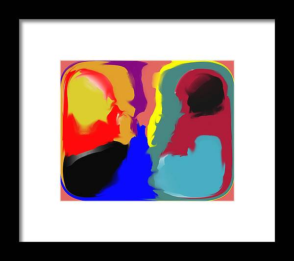 Abstract Framed Print featuring the digital art Two Peas in a Pod by Pharris Art