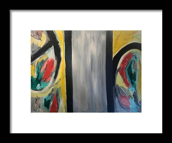 Abstract Framed Print featuring the mixed media Two worlds by Biagio Civale