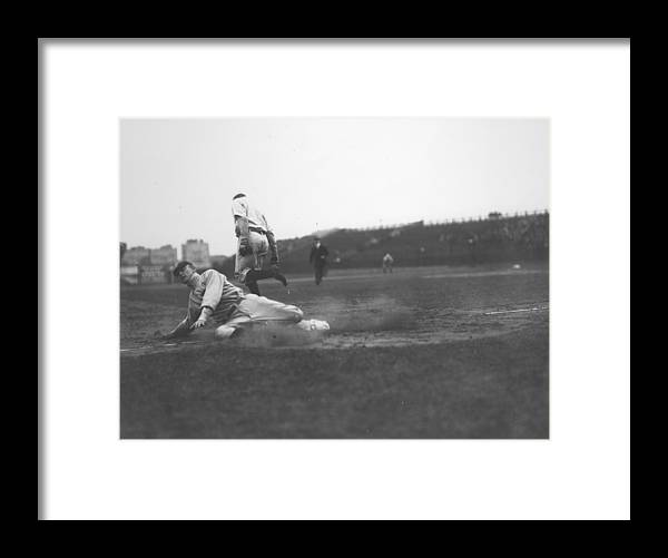 1910-1919 Framed Print featuring the photograph Ty Cobb by Fpg