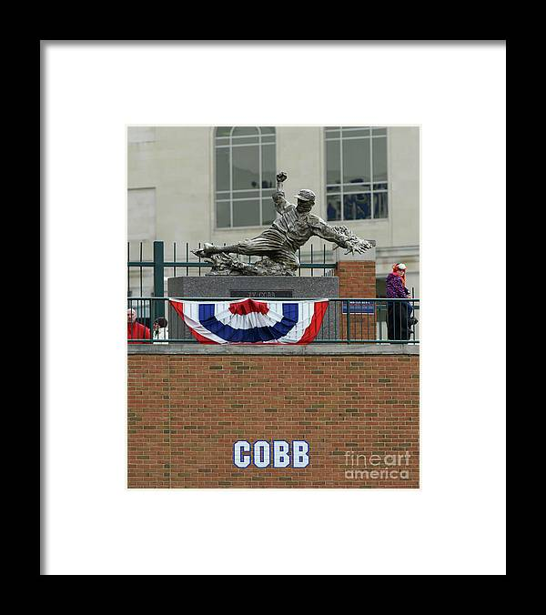 Three Quarter Length Framed Print featuring the photograph Ty Cobb by Mark Cunningham