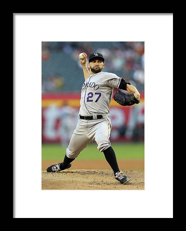 Baseball Pitcher Framed Print featuring the photograph Tyler Chatwood by Christian Petersen