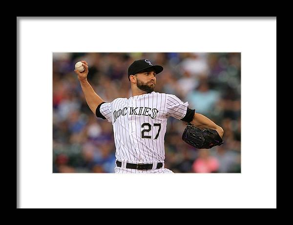 Baseball Pitcher Framed Print featuring the photograph Tyler Chatwood by Doug Pensinger