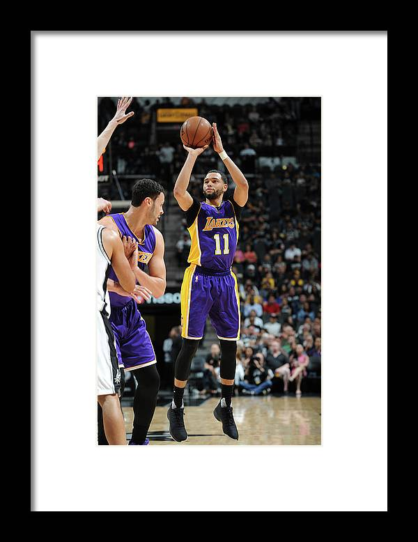 Nba Pro Basketball Framed Print featuring the photograph Tyler Ennis by Mark Sobhani