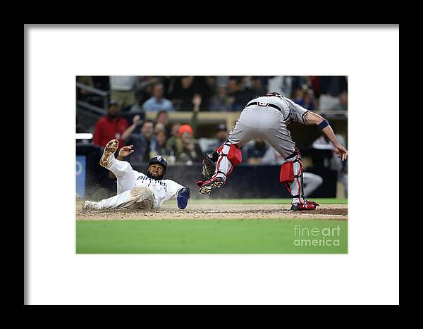 People Framed Print featuring the photograph Tyler Flowers And Manuel Margot by Sean M. Haffey
