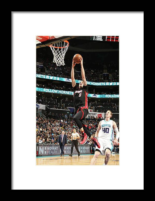 Nba Pro Basketball Framed Print featuring the photograph Tyler Johnson by Kent Smith