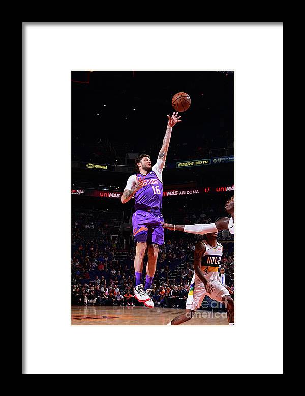Nba Pro Basketball Framed Print featuring the photograph Tyler Johnson by Michael Gonzales